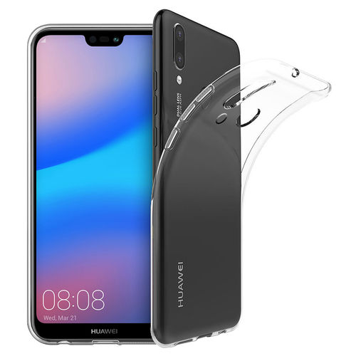 Flexi Slim Gel Case for Huawei Nova 3e - Clear (Gloss Grip)